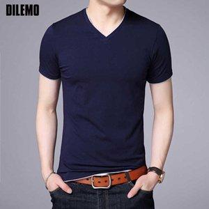 Бренд Летний Топ V-образным вырезом Массовые футболки для мужчин Cato Color Mouwen 95% Cat 5% Spandex Повседневная мода Мужская одежда