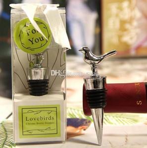 Wedding favor Chrome alloy Love Bird Wine Stopper Bridal Christmas party Wine Bottle Stopper Wine Pourer Vinhos Stoppers