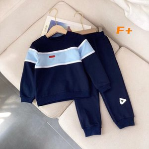 Spring and autumn round neck Pullover children's long sleeve suit cartoon printed boys' and girls' leisure sports clothes and trousers
