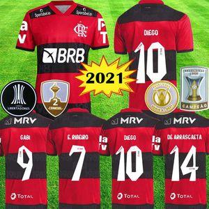 2021 2022 Cr Flamengo Fussball Trikots Flämische 20 21 22 22 De Arraskaeta B.Henrique Gabriel B. Diego Camisa de Futebol Flamenco Football Hemden