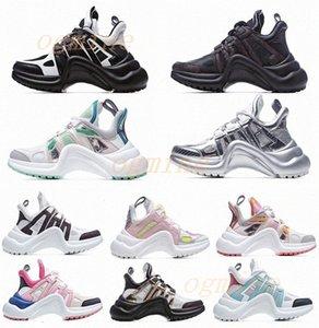 2021 الأزياء عارضة أبي الأحذية كتلة archlight جلد طبيعي أحذية رياضية شبكة سوداء تنفس القوس منصة الأحذية ستايليس 35-40 C7W0 #