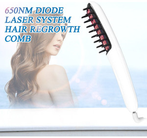 New technology hair care safe electric 650NM 30MW low Level Diode Laser hair growth comb for hair growth