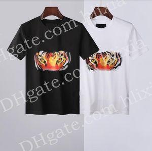 2021 NEW Hot Sale T-Shirt Men Shortsleeve Stretch Cotton Jersery Tee Men's Embroidery Tiger Printed Bird Snake Crew Collar T -shirt #689