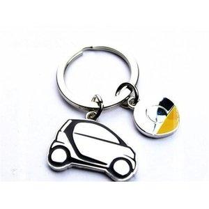 Rvs Smart Fortwo Car Keyhangers Touw Ring Decoration Keyhanger Styling 451