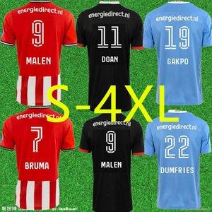 S-4XL PSV Eindhoven 20 21 Fussball Trikots 2020 2021 Malen Camisa de Futebol Ihattaren Dumfries Gakpo Bruma Lammers Mens Football Hemden