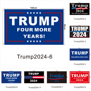 DHL Ship 90 * 150cm Trump Mantener la bandera Trump 2024 América Colgando grandes banderas 3x5ft Impresión digital Donald Trump Flag 20 colores decoración