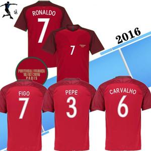 2016 RONALDO NANI retro soccer jerseys FIGO CARVALHO classic camicia RUI COSTA 16 football shirt Camisa de futebol home red