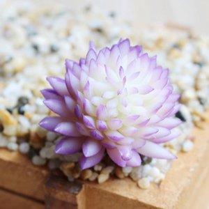 Suculents artificiales Plantas Simulación de PVC Aloe Lotus Flor Paisaje DIY Faux Flor Creativa Decoración del hogar DIY Accesorios