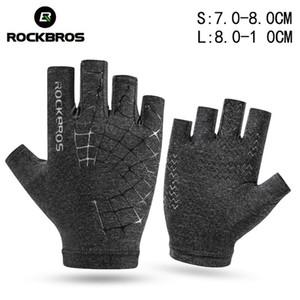 ROCKBROS Men Women Summer Half Finger Gloves Anti-slip Elasticity Breathable Sport Cycling Bike Glove Bicycle Accessories