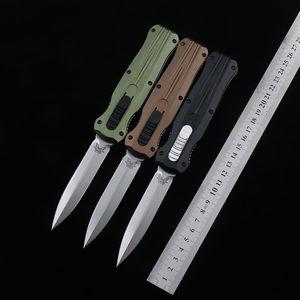 Üst kalite! Benchmade Kâfir 3320 3310BK 3300 C07 taktik Bıçak Çift etkili Otomatik Düz EDC BM42 dişli çakı sağkalım bıçak