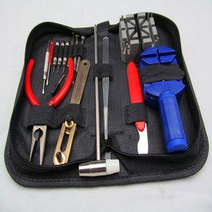 Commercio all'ingrosso- 16pcs A set di utensili di riparazione dell'orologio Set Kit Set Case Holder Holder Opener Remover Wrench ScrewDrivers Watchmaker Guarda Accessori359 T2