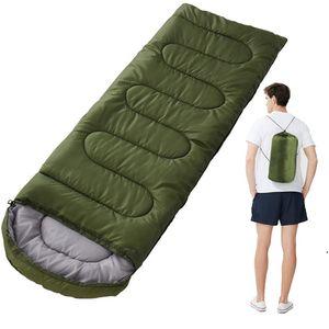 Camping Sleeping Bag, Lightweight 4 Season Warm & Cold Envelope Backpacking Sleeping Bag for Outdoor Traveling Hiking AHD5104