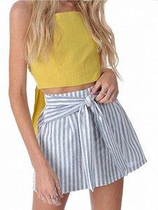 Skirts Women's Summer Skater Mini Skirt Striped Pleated Flared A Line Circle Elastic Stretch Waist