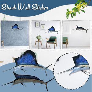 Paintings Creative Simulation Metal Sharks Tuna Pendant Wall Decor Fish Sculpture Art Hanging Ornament For Living Room#35