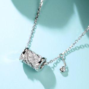 Neo-Gothic Natural VVS1 Diamond Necklace Bizuteria Women Jewelry 925 Sterling Silver Necklace Gemstone Pendant Topaz Jewelry