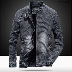 Mens Jackets Jeans Vintage Autumen Men Outwear Manga Longa Plus Size Algodão Casual Casual Streetwear C1867