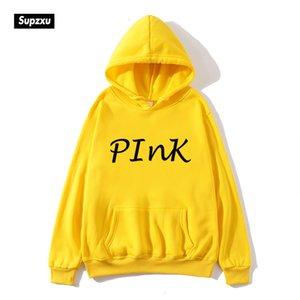 Supzxu letras Hoodie Love Pink Secret Mujeres Estética Vegan Feminista Plus Tamaño Mens Sudaderas Sudaderas Sudaderas DX5B