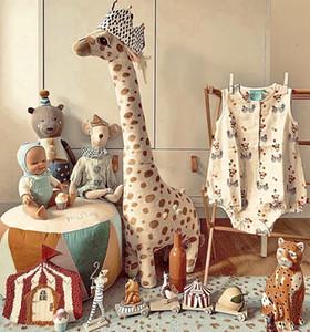 Giraffe Кукла Новый год Подарок Детская Компания Рост Игрушка Евро Американский Украшение Дома Путешествие Офис Подушка