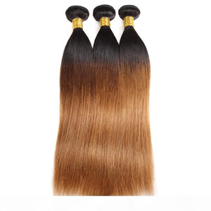 Ishow 10A Ombre Color Raw Hair Weaves Extensions 3Bundles with Closure 1b 30 T1B 99J Body Wave Human Hair Straight T1B BUG Purple