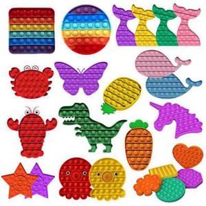 Push Bubble Fidget Sensory Toys Pendenten Stresseinlagerung Stress Relief Spielzeug Angst für Kinder Geburtstagsfeier von Sea 1000 stücke L012