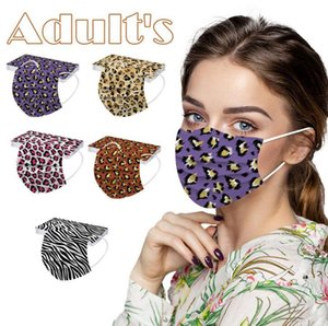 Three Layers Leopard Disposable Mask Protective Masks Personalized Printing Masks PBT Melt-blown Nonwoven Prevention of Influenza Mask