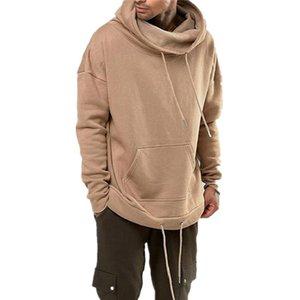 New 2020 Spring Men Pullover Long Sleeve solid color Male Hipster Hoodie Sweatshirt hoodies and Streetwear Sweatshirts for men C0305