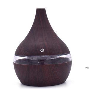 New USB Electric Aroma Diffuser Led Wood Air Humidifier Essential Oil Aromatherapy Machine Cool Purifier Maker For Home Fragrance EWD4955
