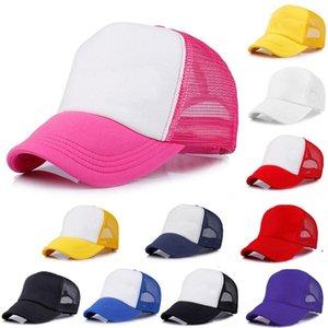 21 renkler çocuklar kamyoncu kapak çocuk örgü kapaklar boş kamyon şoförü şapka snapback şapkalar kız erkek toddler kap owa3836