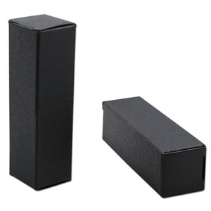 2021 100pcs lot- Black Paper Packaging Box Essential Oil Perfume sample box Cosmetic packing box- multi sizes available