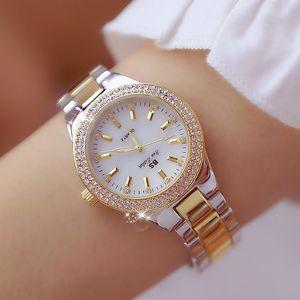 BS Ape Sister New Gold Watch Donne Donne Crystal Acciaio inox Ladies Quartz Orologi da polso femminile Impermeabile Orologio Relogio Feminino 210310