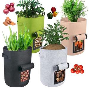 STORS Grow Bags Главная Сад Картофель горшок для тепличных овощных растительных мешков Увлажняющие jardin Вертикальный садовый мешок