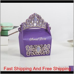 Princess Crown Wedding Candy Boxes Chocolate Gift Boxes Romantic Paper Candy Bag Box Weddin qylsTS garden2010
