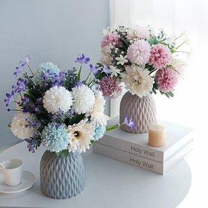 Vases 1pcs Modern Plastic Vase Imitation Ceramic Rattan Flowerpot Nordic Home Decor Wedding Flower Arrangement Oranement 15 X 11cm
