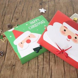 عيد الميلاد عشية هدية كبيرة مربع سانتا كلوز الجنية تصميم كرافت papercard الحاضر حزب صالح النشاط مربع الأحمر هدايا الخضراء حزمة صناديق ZZF9062