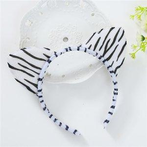 Spot Small Leopard Print Headband Plush Leopard Print Cat Ear Headband Animal Ear Headband Dance Festival