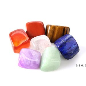 Natural Crystal Chakra Stone 7pcs Set Natural Stones Palm Reiki Healing Crystals Gemstones Home Decoration Accessories EWD5077
