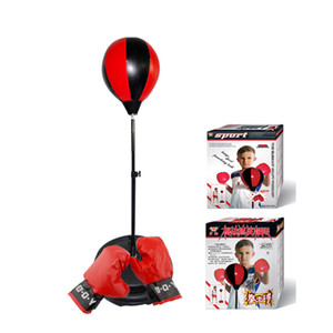Children's Vertical Ball Suit Combination Iatable Boxing Sports Toys for Children Aged 5-8-10