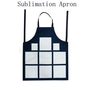 Sublimation 9 Plaid Aprons Sublimation Blanks Kitchen Apron Printing Oil Proof Antifouling Cotton Linen Aprons YL357