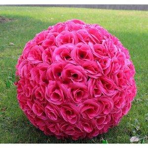 Boule de fleur de soie artificielle artificielle blanche élégante suspendue boules d'embrassement 30cm 12 pouces Ball pour la fête de mariage déc. JLLWQT Insyl