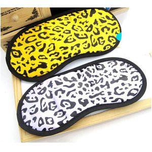 Leopard Print Travel Sleeping Eye Mask Funda Shade Glendfold Funny Eyemask Regalos para Mujeres Hombres Color aleatorio 1 Qylhuw
