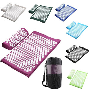 Wave point massage mat, massage yoga mat, acupressure mat to relieve pressure and back pain, multi-color options