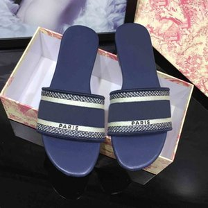 Women Paris ss20 Designer Slippers Summer Girls Beach Slides Top Quality Flip Flops Loafers Sexy Best Embroidered Sandals Large Size 34-42