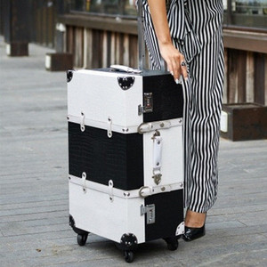 Travel Rolling Luggage Sipnner Wheel Women Suitcase On Wheels Men Fashion Cabin Carry On Trolley Box Luggage 14 16 20 24 26 Inch Cheap 56M9#
