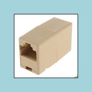 Connectors Networking Communications Computers & Networking8P8C To Rj45 Female For Cat5 Network Connector Adapter Extender Plug Coupler Join