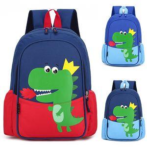 Bolsos de la escuela de la impresión de dinosaurios para niños Niños Mochilas para niños Kindergarten Bolsa de la escuela de niños Niño Niño Niño Linda Mochila 210306
