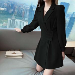 fashion spring Suit women's collar long 2021 sleeve dress and summer new small Korean design fashion windbreaker short skirt luxury