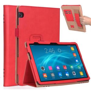 """Capa de couro PU de luxo capa para Huawei MediaPad T5 10 AGS2-W09 AGS2-L09 L03 W19 10.1 """"Grip de suporte de mão com slots de cartão"""