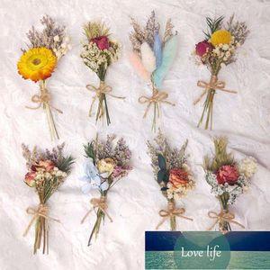 Мини настоящий натуральный высушенный цветок букет роза Pampas трава растения украшения дома рождественские подарки подарки DIY ремесел