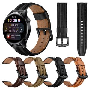 Watch Bands Leather Strap For HUAWEI 3 WATCH3 Band Watchband GT 2 Pro Wristband HONOR MagicWatch 46mm 42mm Wriststrap Bracelet