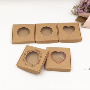 Kraft Paper Packing Box Jewelry Storage Box Crafts Arts Storage Boxes Accessories Display Boxes Ear Ring Necklace Gift Case BWE4843